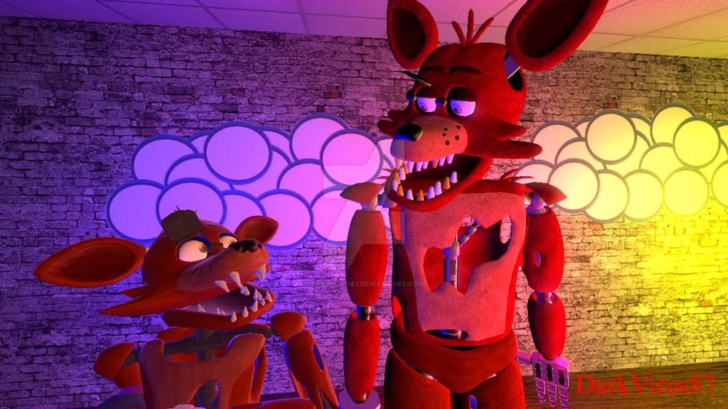 Mini Foxy shock by DarkVirus87