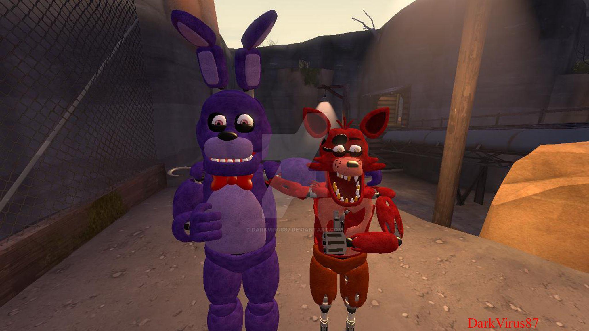 Foxy and Bonnie SFM by DarkVirus87