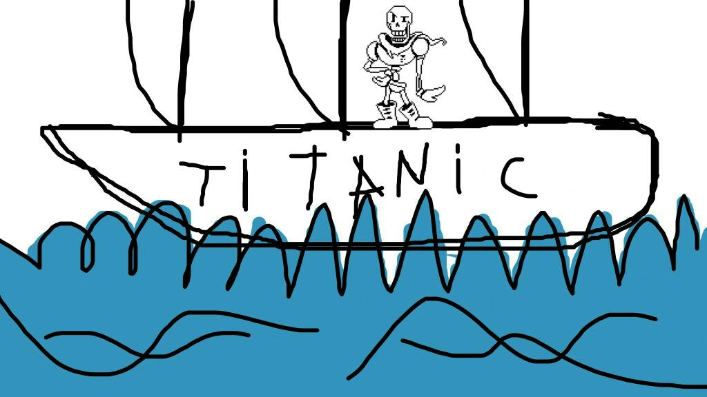 Papyrus on Titanic by DarkVirus87