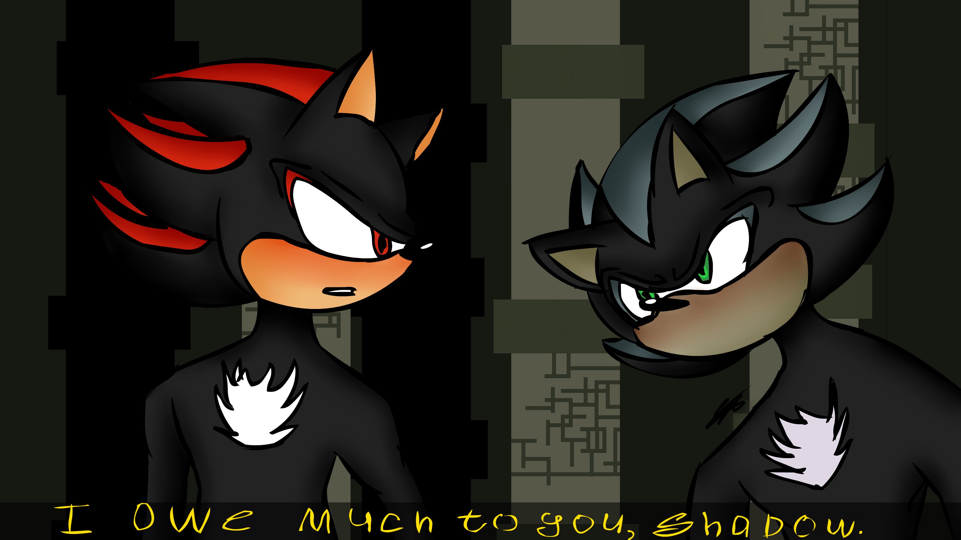 Shadow and Mephiles by DarkVirus87