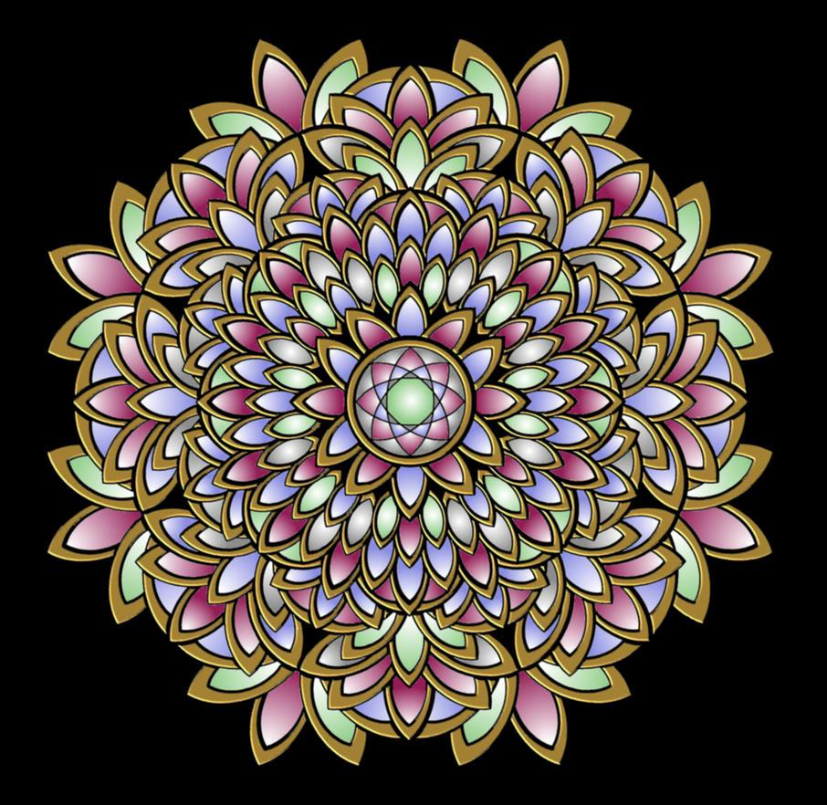 Mandala360 - Gold Leaf by LisaJStalnaker