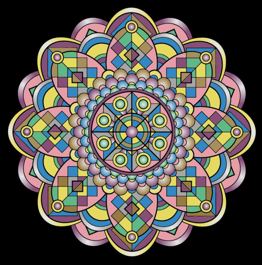 Mandala276 - Happy Place by LisaJStalnaker