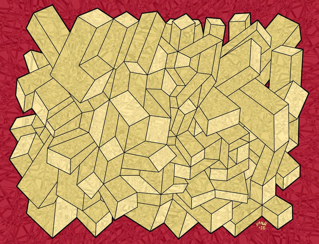 Geometric offals by instantmashdpotatoes on deviantart for Ponteggio ceta dwg