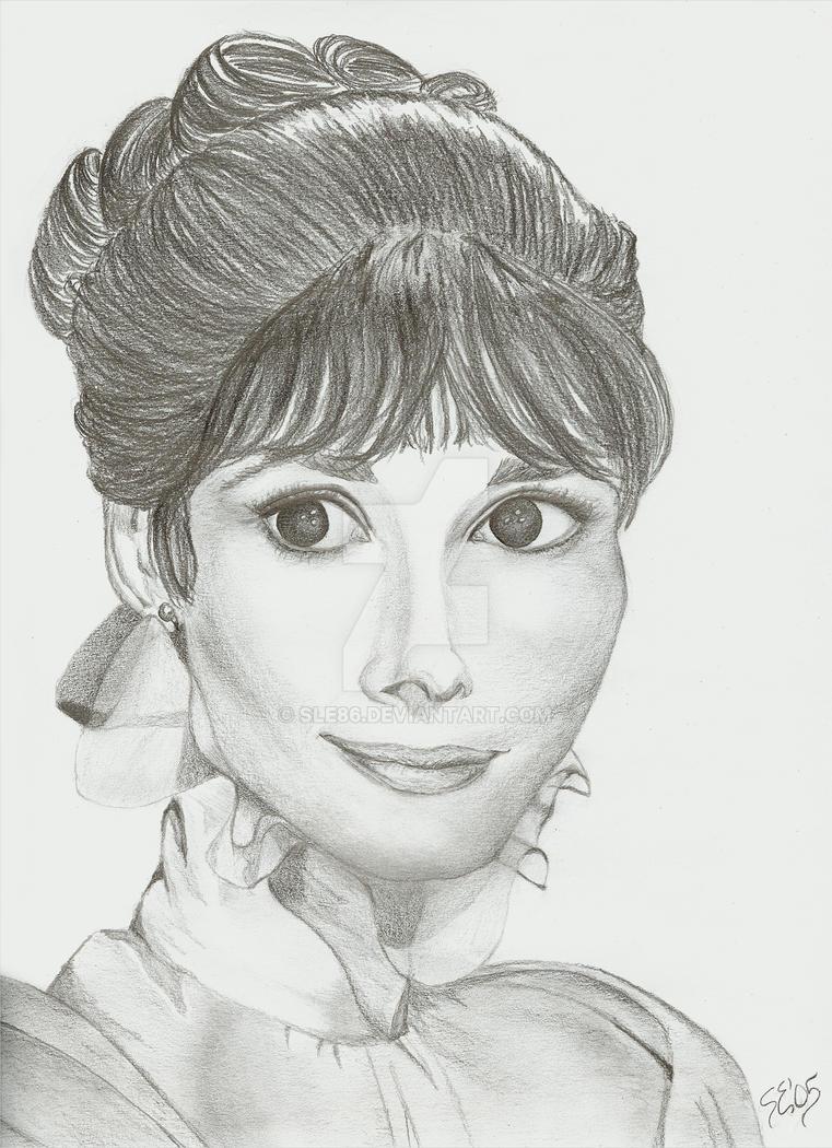 Portrait - Audrey Hepburn by sle86