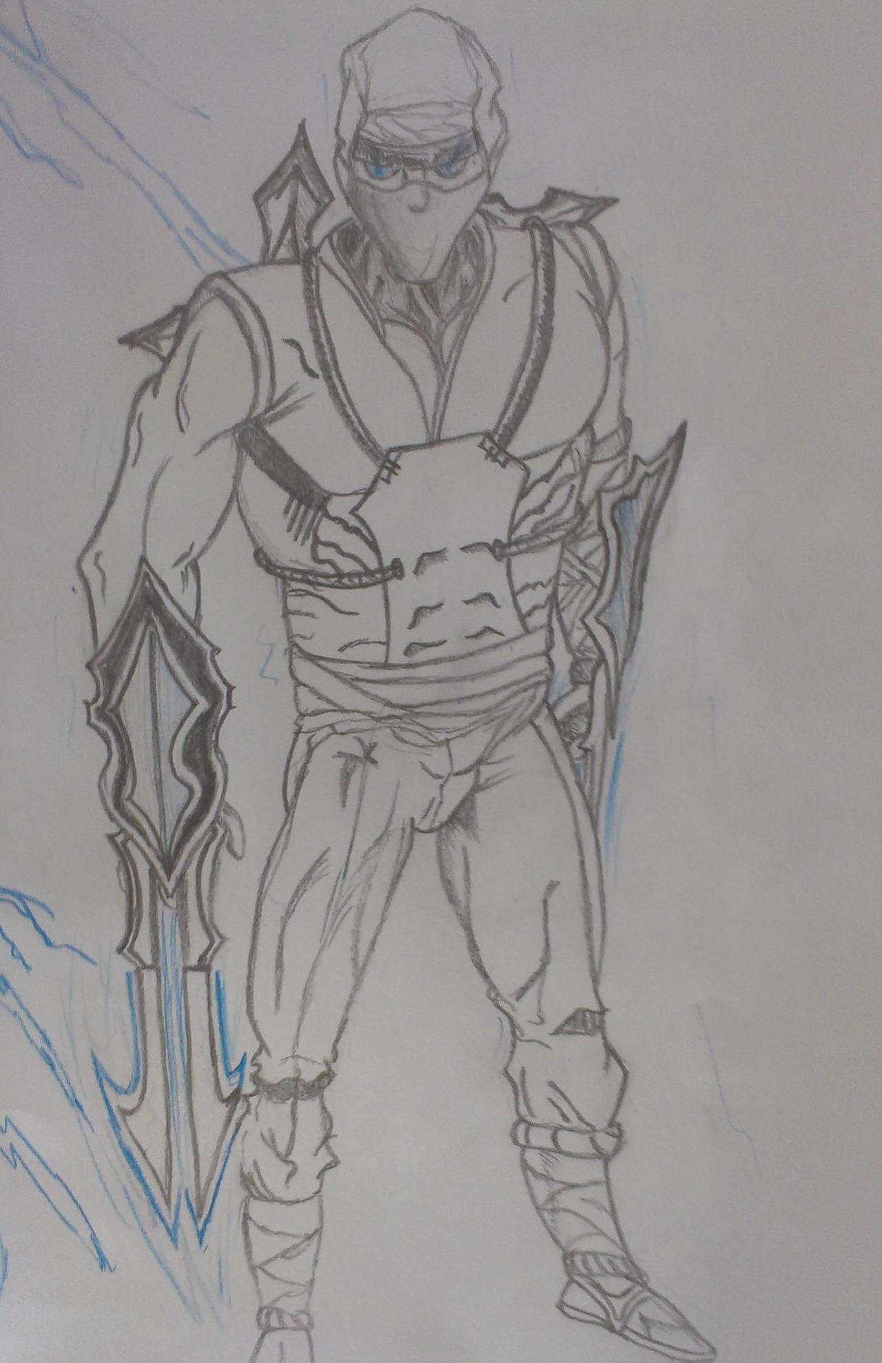 Shockblade Zed Drawing