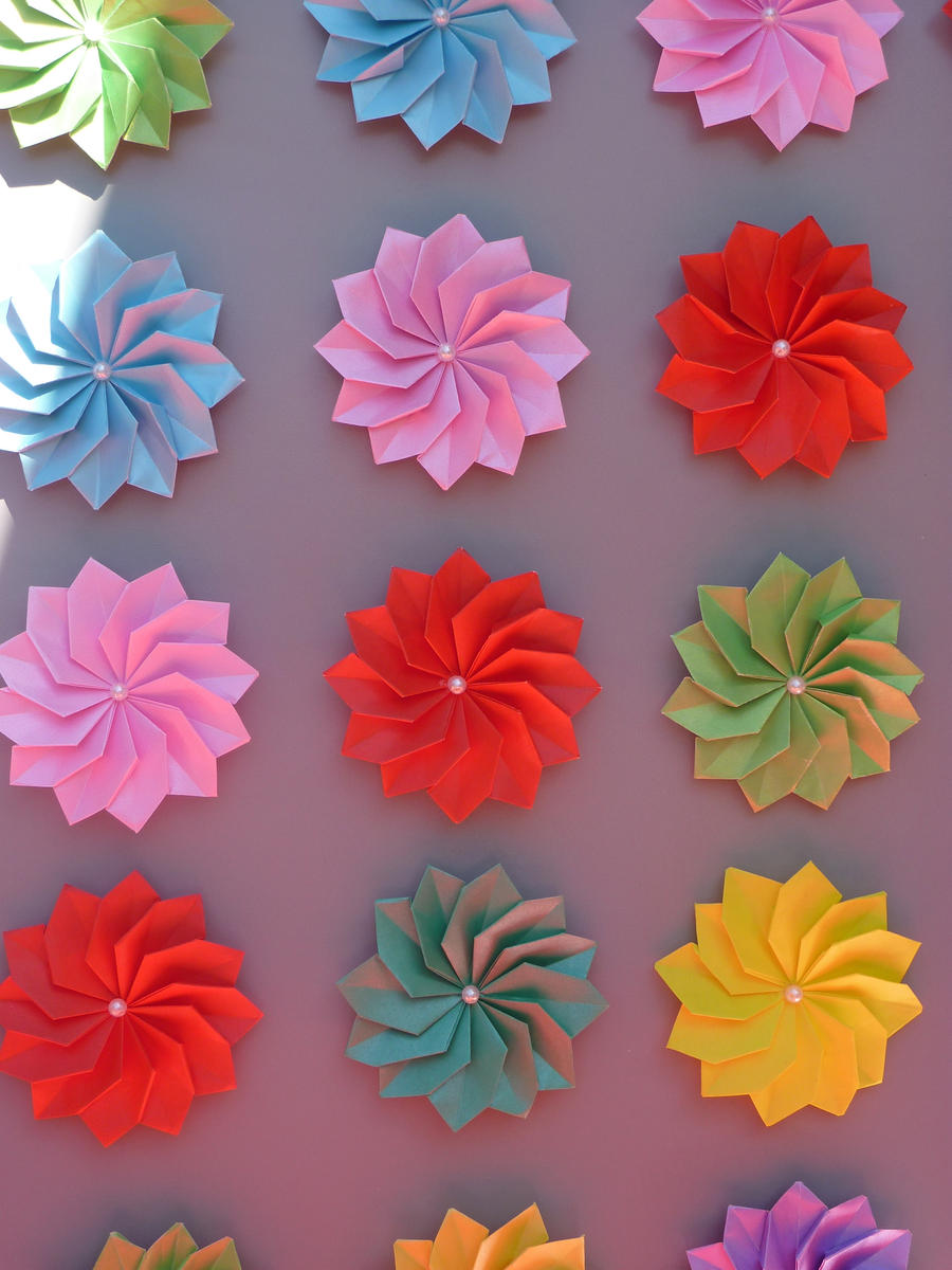 Origami Flowers By Ledgertakahashix On Deviantart
