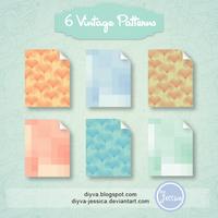 Vintage Pattern (Motivos vintage para Photoshop) by DiyVa-Jessica