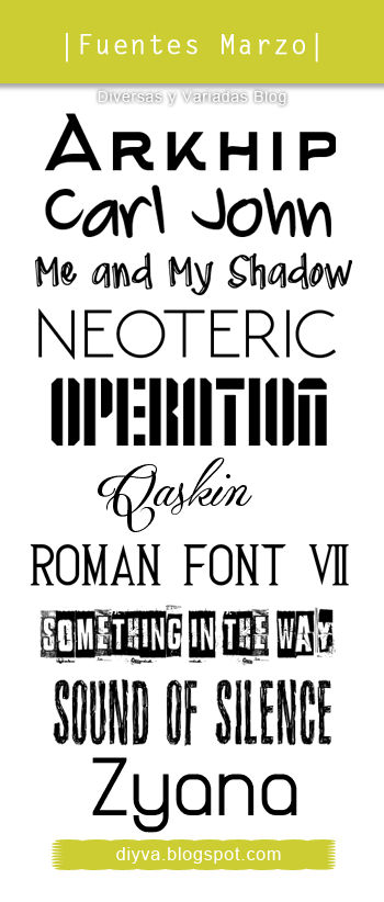 March Fonts (Pack fuentes Marzo)