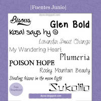 June Fonts (Pack fuentes Junio)