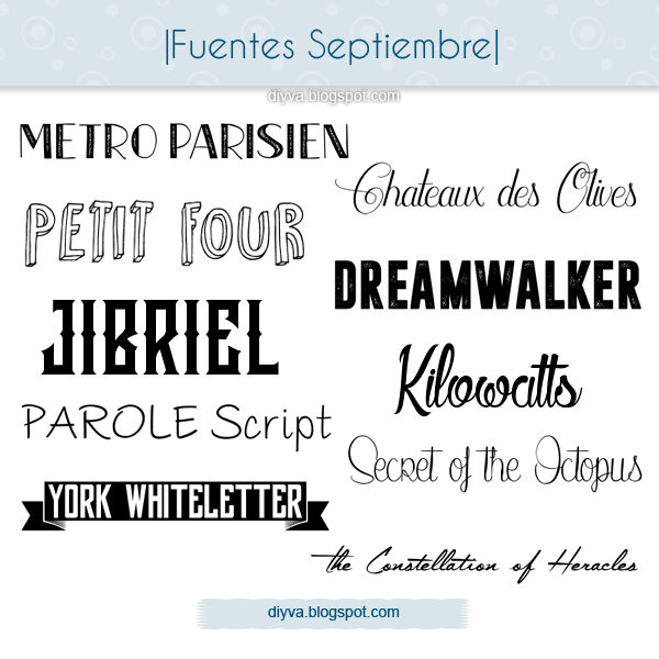 September Fonts (Pack fuentes Septiembre)