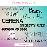 January Fonts (Pack fuentes Enero 2016)