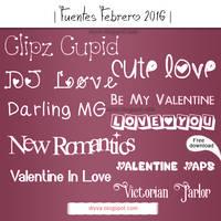 February Fonts (Pack fuentes Febrero 2016)