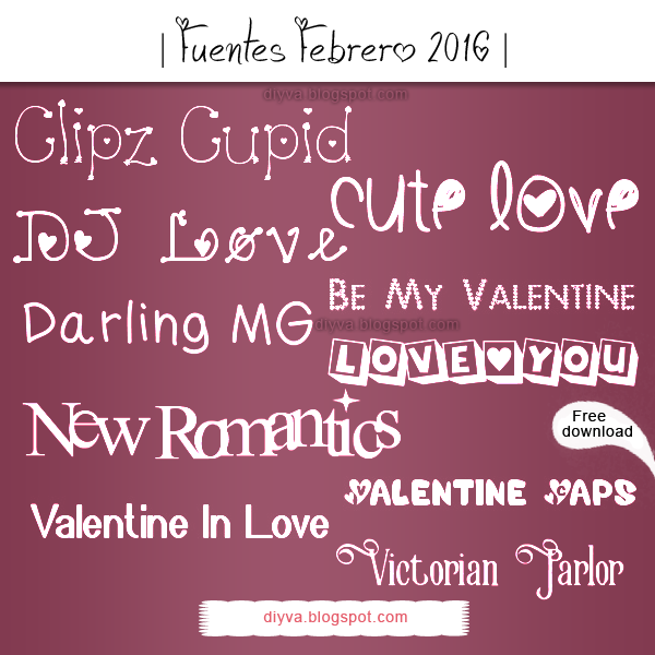 February Fonts (Pack fuentes Febrero 2016) by DiyVa-Jessica