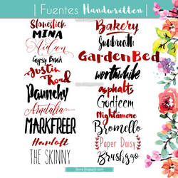 Handwritten Fonts (Fuentes hechas a mano 2016) by DiyVa-Jessica