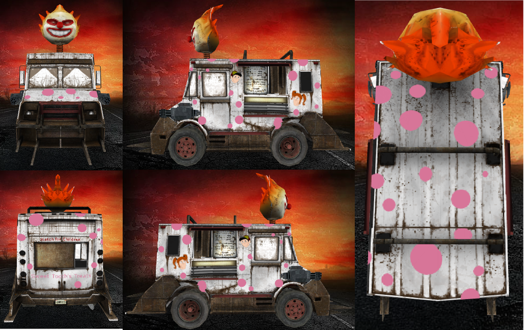 Twisted metal sweet tooth skin by mattmc95 on deviantart - Sweet tooth wallpaper twisted metal ...