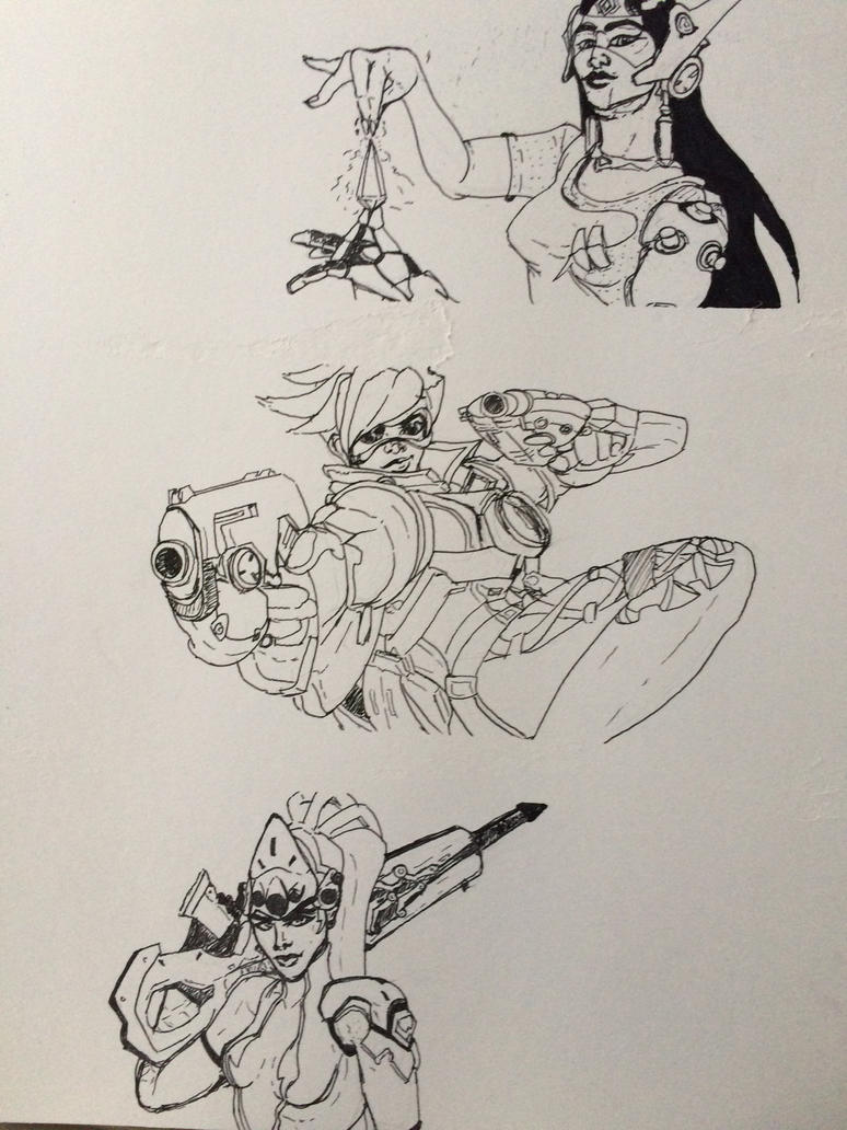 Overwatch Doodly doo's by Wolfbite04