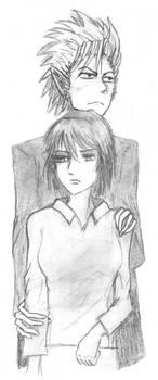 Hiruma x Mamori Sketch 01