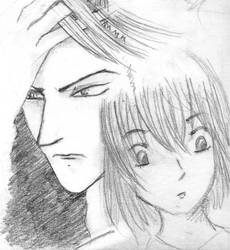 Hiruma x Mamori Sketch 02 by HelloSugah