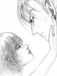 Hiruma x Mamori Sketch 03 by HelloSugah