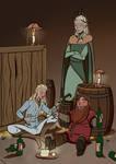 Friends and Darwinion wine