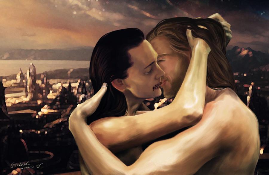 [Thor/Loki]Osculate me,brother by SabrielDraupnir
