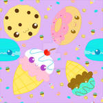 Sweets Fabric Pattern