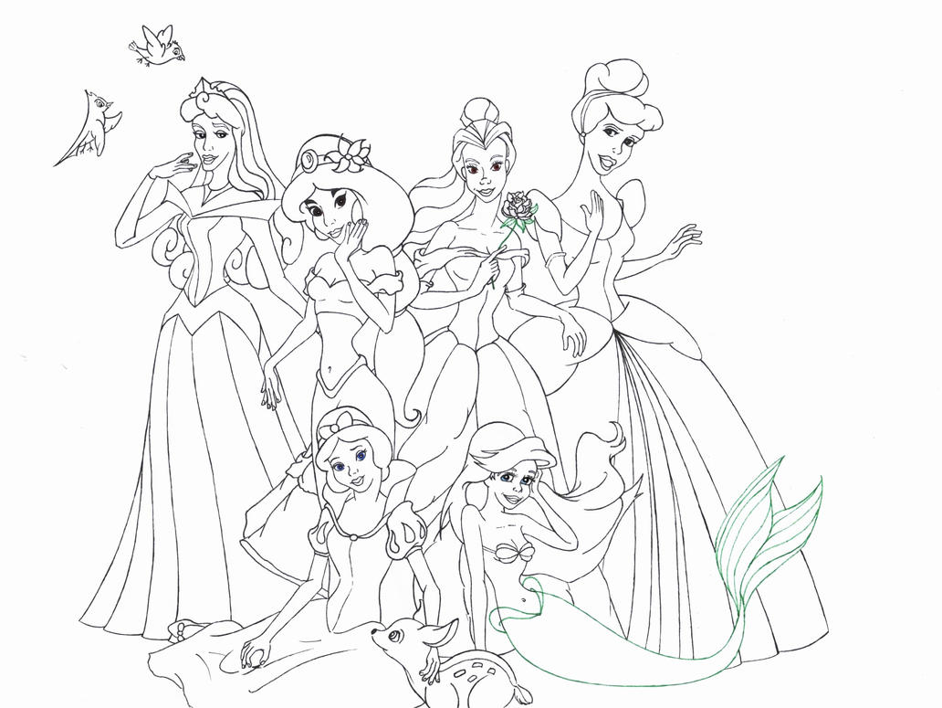coloriages disney princesses imprimer