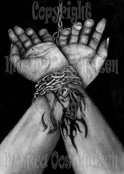 Chained.