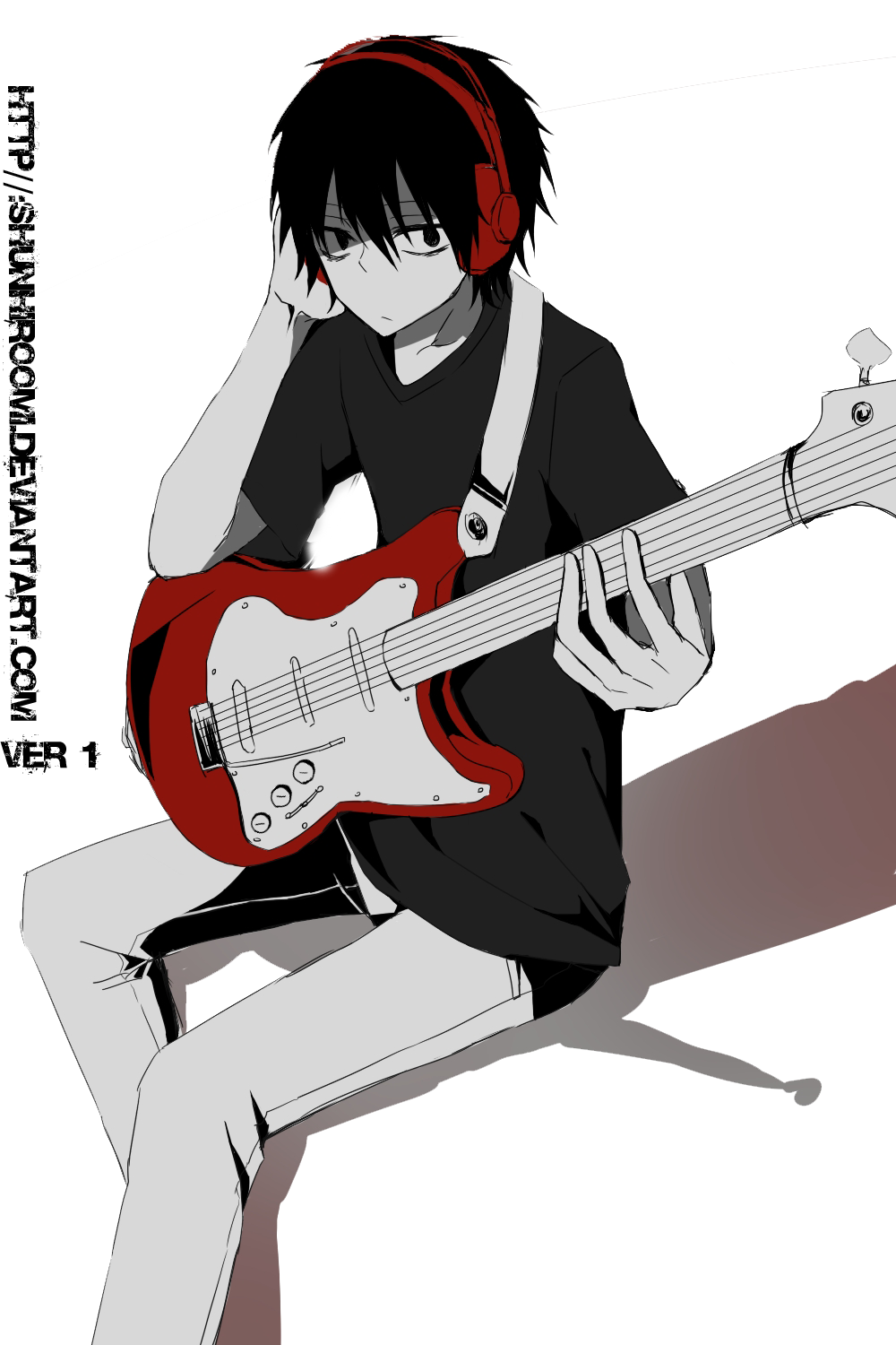 Kisaragi Shintaro With Guitar Render ( Ver 1 ) By