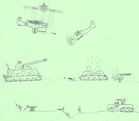 WWII battle draw