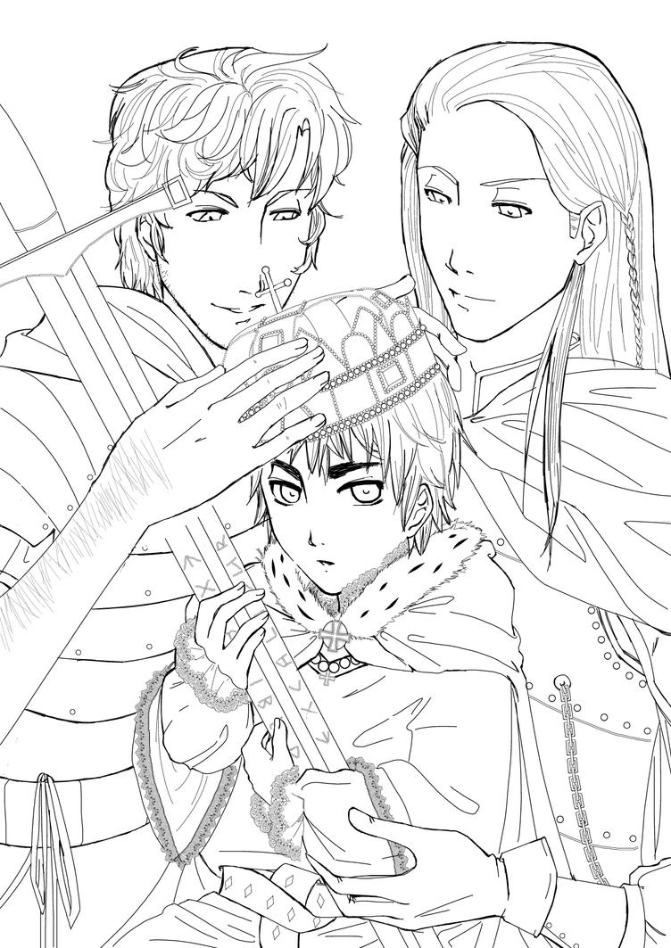 king arthur lineart by yuriookino on deviantart