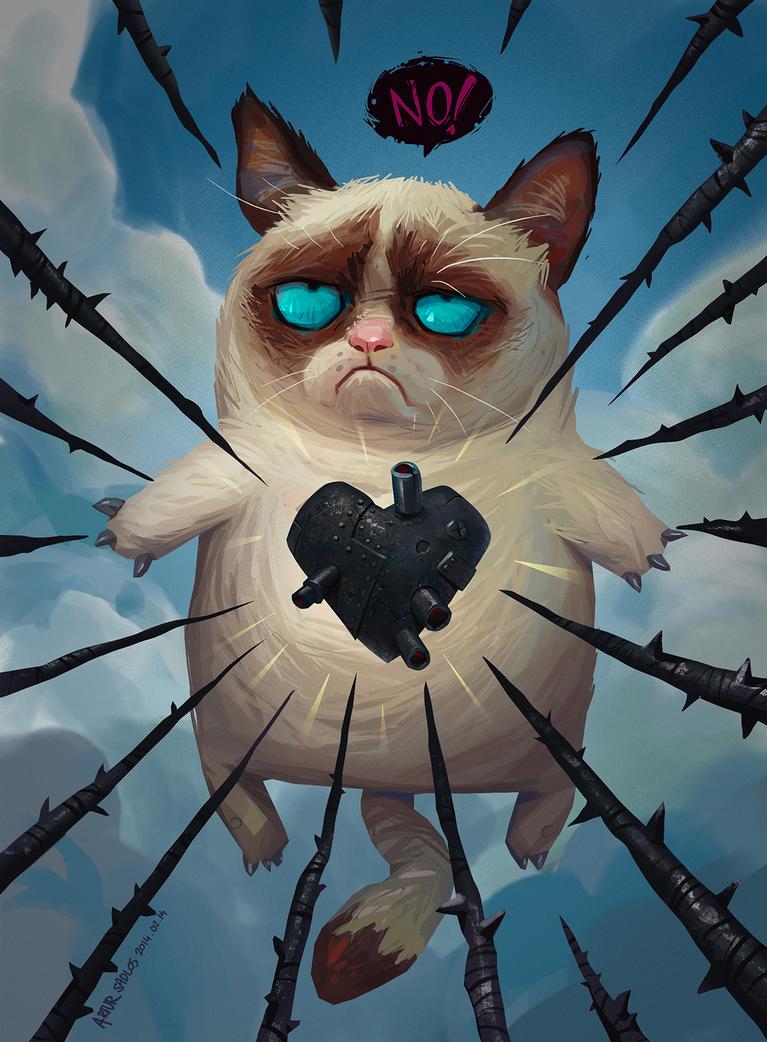 grumpy cat valentine by artursadlos