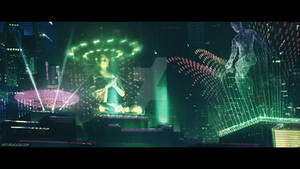 Cyberpunk City (cinematic frame #2)