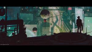 Cyberpunk City (cinematic frame #3)