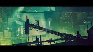 Cyberpunk City (cinematic frame #4)