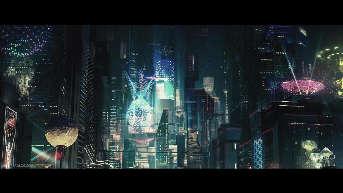 Cyberpunk City (cinematic frame #5) by artursadlos on DeviantArt