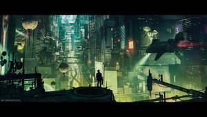 Cyberpunk City (cinematic frame #6)