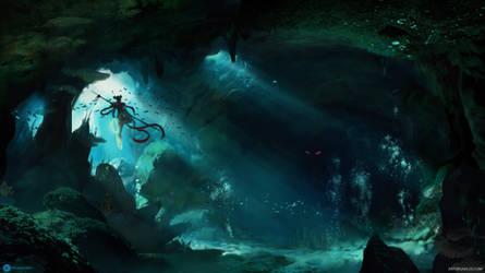 Nezha in underwater tunnels by artursadlos