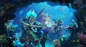 Underwater Guards by artursadlos