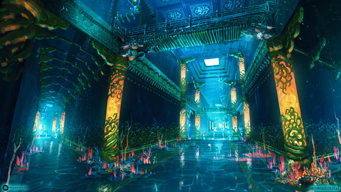 Dragon Palace - Corridor by artursadlos