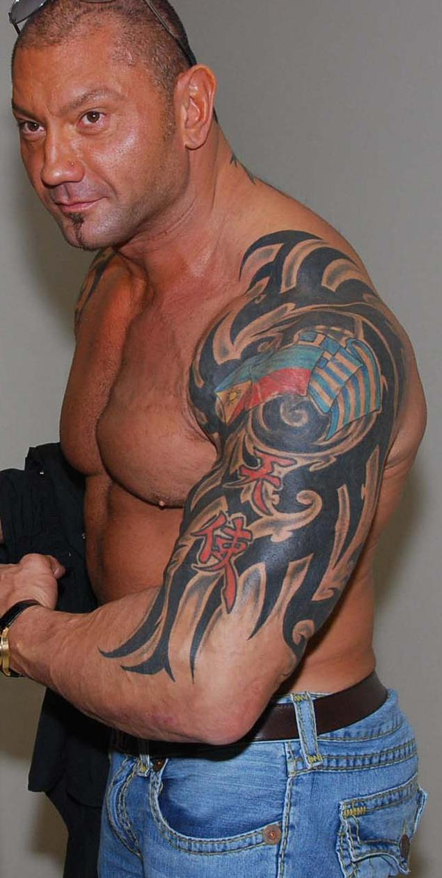 Randy orton tattoos celebritiestattooed com - Batista New Tattoo By Dave Batista Tattoos 2014