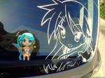 Kagami On The Car