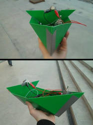 Green DIY boat by Kyrremann