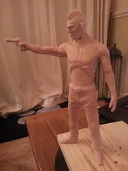 First ever clay figure sculpture WIP