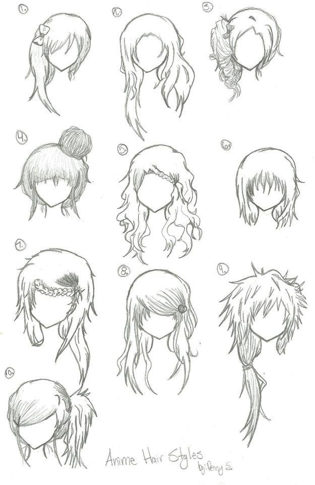 Anime Hair Styles By Animebleach14 On DeviantArt