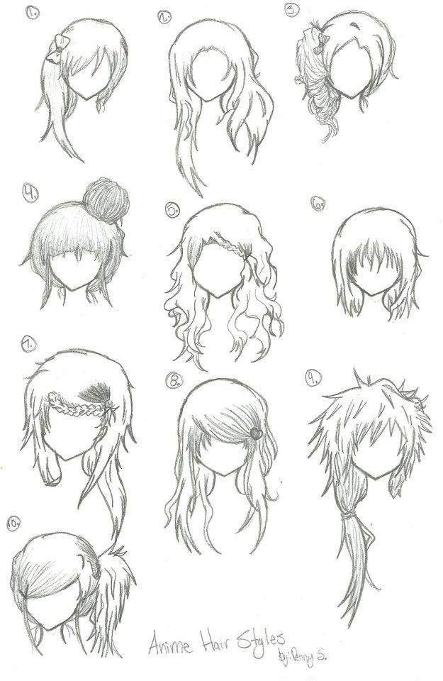 Anime hair styles by animebleach14 on deviantart anime hair styles by animebleach14 ccuart Choice Image