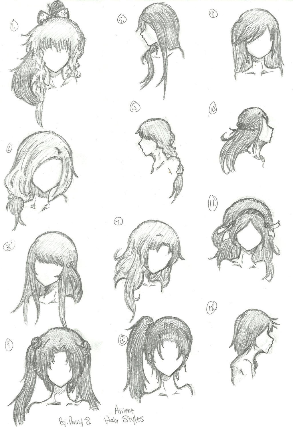 Hair Styles 1 12 By Animebleach14 On DeviantArt