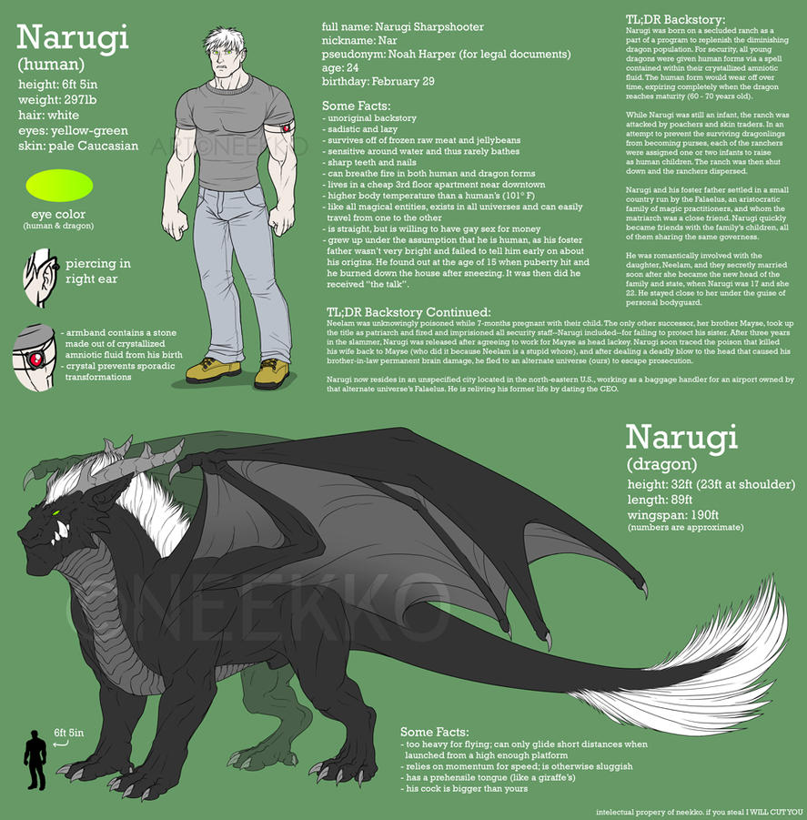 Character Sheet - Narugi by neekko