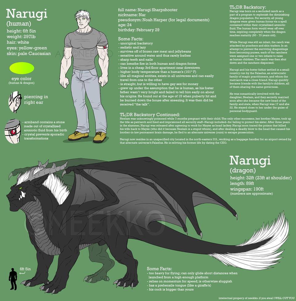 Character Sheet - Narugi by neekko