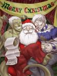 Bu and Nar Visit Santa by neekko